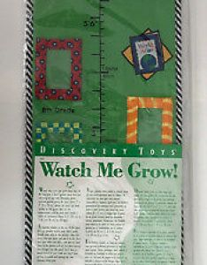 New discovery toys growth chart watch me grow fabric wall hanging picture frames also photo display the best tracker rh picclick