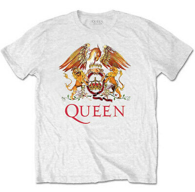 Queen 'Classic Crest' (White) T-Shirt - NEW & OFFICIAL!