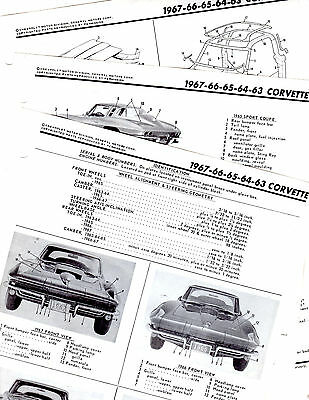 1965 1964 1963 63 64 65 Corvette Service Repair Shop Book