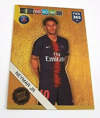 PANINI ADRENALYN XL 2019 FIFA 365 LIMITED EDITION NEYMAR JR neu