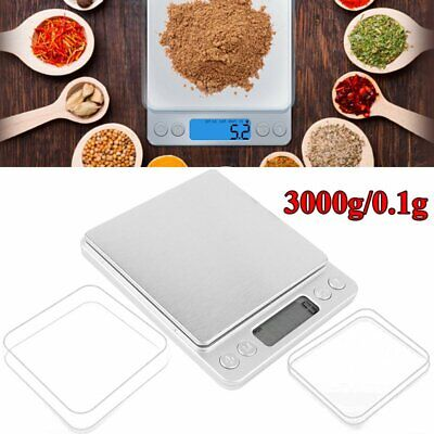 3000g / 0.1g Electronic LCD Kitchen Scale High Precision Digital Scale