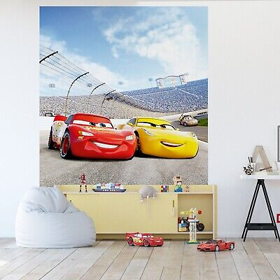 Coming in at number one on the list of living room wallpaper ideas is panoramic, mural wallpaper, which has seen an increase of over 300% in google searches over the past year. Cars 3 Wall Mural Wallpaper Children S Bedroom Premium Disney Wall Decor Yellow Eur 46 50 Picclick Fr