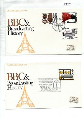 GB - First Day Cover (3404) - 1972- BBC & Broadcasting  - pmk. see both covers