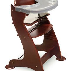 Padded High Chair Best Sleeper Wooden Cherry Unique Soft Washable Marvelous Product