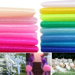 Diy Organza Chair Covers Chairs For The Elderly 33ft 10m Backdrop Gauze Curtain Cover Wedding Party Decoration