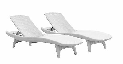 white outside chairs folding lounge chair canada outdoor chaise set of 2 pool deck patio furniture