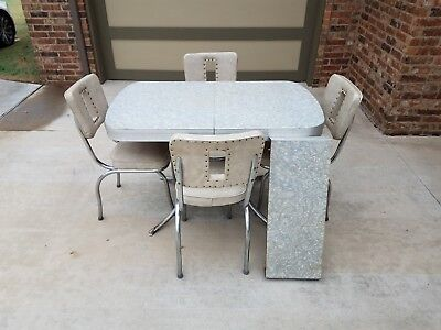 retro kitchen table drop in sink dining vintage 50 s mid century modern style chrome