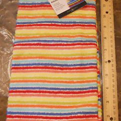 Fiesta Kitchen Oak Table Towel Nwt Horizontal Stripe Multi Color Scarlett Turquoise