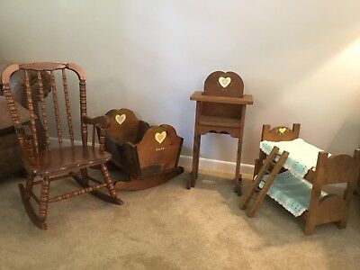 Child Rocker With Doll Cradle