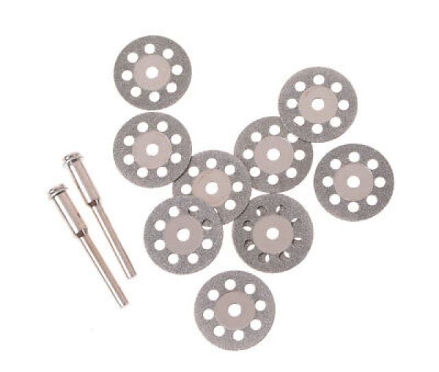 10x 20mm Diamond Cutting Disc Metals Grinding Wheels Disc For Drill Rotary Tools
