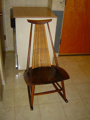 danish modern rocking chair wooden outdoor chairs vintage mid century 250 00 picclick