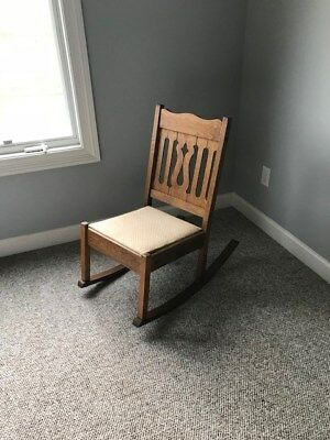 small rocking chairs canopy best price antique oak chair 70 00 picclick