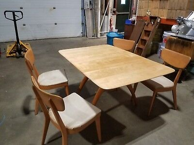 heywood wakefield dogbone chairs fishing chair with umbrella mid century wishbone drop leaf dining table server