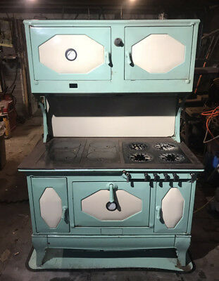 cast iron kitchen stove white sink undermount antique imperial kalamazoo wood coal and gas combination