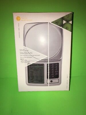 kitchen calculator mobile kitchens kitrics nutrition label food scale digital silver new opened box