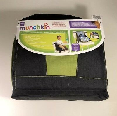 munchkin high chair stool green baby booster seat portable highchair travel feeding storage compact new