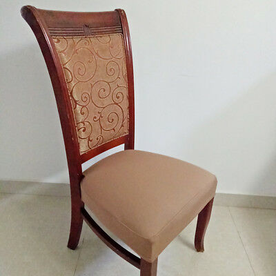 chair pad covers wedding with bows stretchable seat cover protector dining replacement set brown