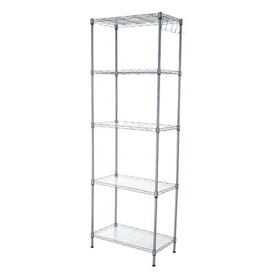 kitchen wire rack base cabinets 4 tier shelving metal shelf adjustable unit garage home 5 layer storage shelves k