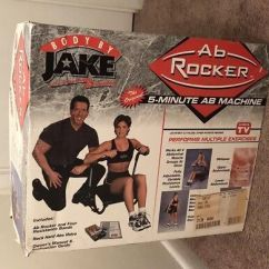 Ab Rocker Chair Rocking For Nursery Nz Body By Jake Fitness Work Out Seat As Seen On Tv