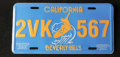 License plate USA - CALIFORNIA - BEVERLY HILLS