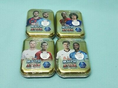 Topps Match Attax Champions League 2019/2020 all 4 Mini Tin Boxes