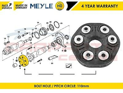 FOR BMW FRONT Propshaft Coupling Doughnut Mounting 26 11 7