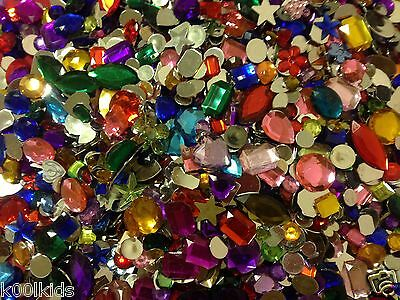 Mixed Acrylic Jewels Craft Jewels Gems Gemstones Embellishments 45 50 Pcs 2 49 Picclick Uk