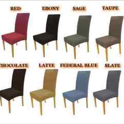 Taupe Chair Covers Teal Dining Room Surefit Stretch Red Ebony Sage Latte Blue Brown Slate
