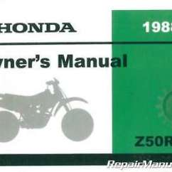 1982 Honda Z50r Wiring Diagram Gibson Central Air Conditioner Motorcycle Cyclepedia Printed Service Manual 33 19 1988 Owners 31gw8601