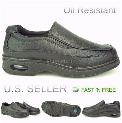shoes for work in the kitchen cabinets to go men s oil slip resistant restaurant non loafer on