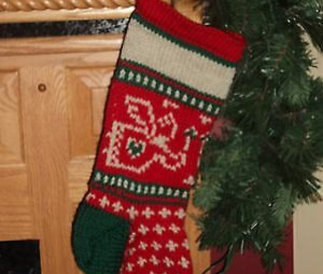Baby Angel Christmas Stocking Hand Knit  Wool Can Be Personalized
