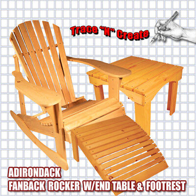 rocking chair footrest transitional dining chairs full sized adirondack fanback w table and free shipping