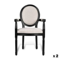 French Provincial Adele Occasional Chair Oversized Folding Armchair Louis Xv Linen Fabric Set Of 2 Dining Kitchen Padded