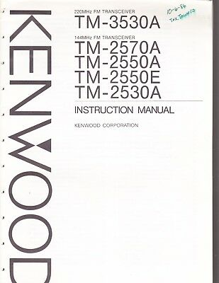 KENWOOD TM-3530A 220MHZ FM Ham Radio Transceiver with Mic