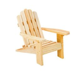 Unfinished Adirondack Chair Folding Grey Miniature Wood For Dollhouse Fairy Garden Beach 6 25 Picclick