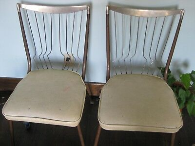 mid century modern wire chair ebay dining chairs 2 back rare eames atomic