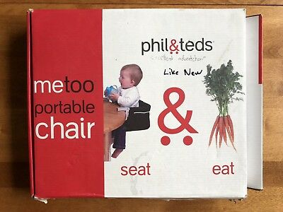 metoo portable high chair wood childrens table and chairs used phil teds me too clip on for baby toddler seat red