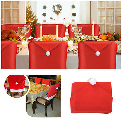chair covers new year frank lloyd wright designs dinner xmas cap santa red hat christmas decorations