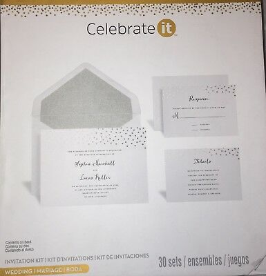 Celebrateit Printable Wedding Invitation Kit Set Of 30
