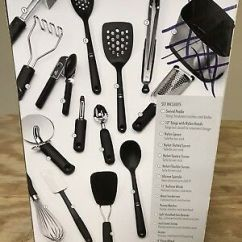 Oxo Kitchen Utensils Swan Granite Sinks Utensil Tool Set 15 Piece Stainless Steel Compact Good 14 Missing The Holder