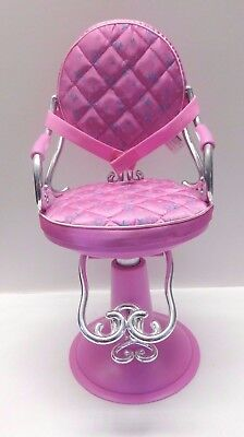 doll salon chair wood and leather executive office chairs our generation sitting pretty pink 18 adjustable beauty seat