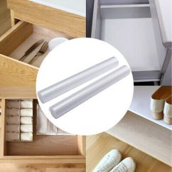 Kitchen Cupboard Protectors Cleaners Clear Drawer Liner Anti Slip Waterproof Shelf Table 2 Mat Cabinet Protector Mats Non