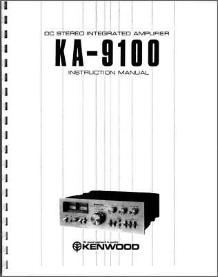 VINTAGE KENWOOD KA-9100 DC Stereo Integrated Amplifier