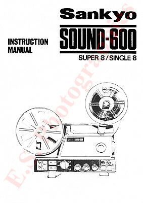 NEW SANKYO 600 Super 8 Sound Projector New Replacement