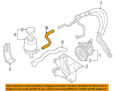 subaru oem 02-07 impreza-power steering return hose 34611fe050 subaru  p120 wiring diagram