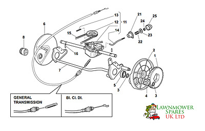 CHAMPION R484TR SP Petrol Lawnmower Gearbox Assembly Parts