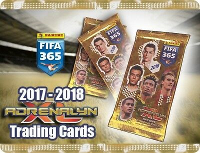 Panini Adrenalyn XL FIFA 365 2018 - 25 Booster 150 Trading Cards