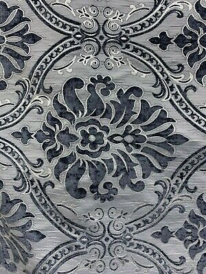 brocade sofa fabric one seat bed ikea grey damask chenille upholstery 54 in sold bty