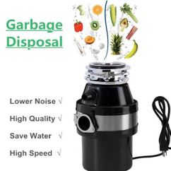 Kitchen Waste Disposal Rugs Walmart 1 0 Hp Garbage Continuous Food Feed Home W Plug 2600 Rpm