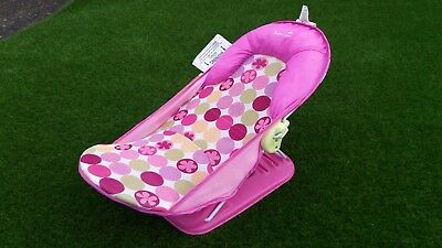 summer infant beach chair toddler for eating deluxe travel baby bather pink bath support seat